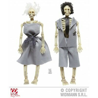SKELETON COUPLE GREY OUTFITS Decoration for Living Dead Halloween Skull Pirates