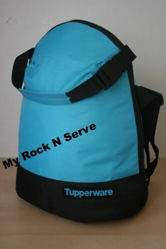 Tupperware Insulates Lunch Bag wShoulder Strap Black Blue New