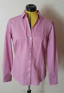 Versatile Pink Striped Austin Reed 100 Cotton Ladies Fitted Shirt Size 12 New Ebay