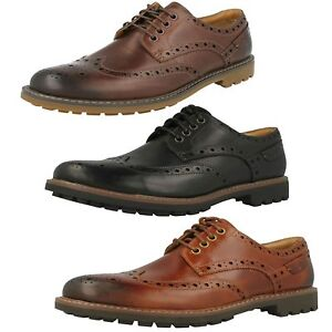 9ab21c31aa941 Mens Clarks Montacute Wing Leather Casual Lace Up Brogue Shoes G ...
