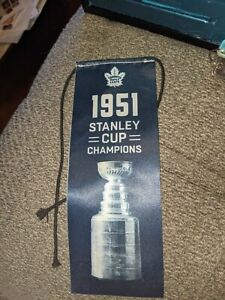1951 Toronto Maple Leafs Stanley Cup Champions Banner