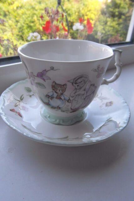 Royal Albert Tom Kitten Tea Cup & Saucer Teatime Collection 2nd Quality Green