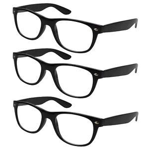 3x-Lesebrille-schwarz-Lesehilfe-Sehhilfe-Kunststoff-Brille-Vollrahmen-1-0-4-0