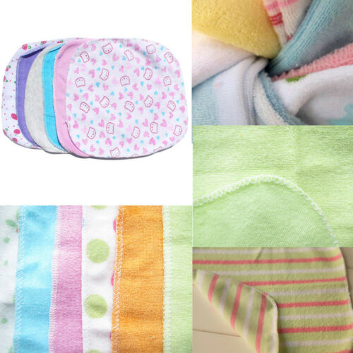 8Pcs Lovely Cotton Infant Newborn Bath Towels Washcloth Baby Feeding Wipe Cloth