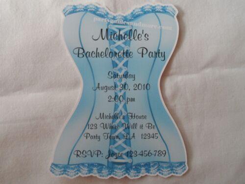 UNIQUE PERSONALIZED BRIDAL SHOWER BACHELORETTE PARTY LINGERIE INVITATIONS