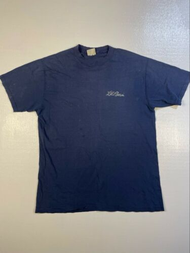 Trashed 1980s LL Bean Tee Large A2094