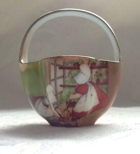 Rare-Collectable-Royal-Bayreuth-Sunbonnet-Babies-Porcelain-Basket-Unmarked