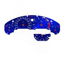 BMW Tachoscheibe für 3er E36 Benziner 260 kmh km/h M3 Blau Tachoscheiben 3600