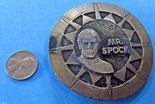 "BELT BUCKLE '70s vtg Star Trek Mr. SPOCK Tiffany Studio NY 2.5"" Metal RARE!"