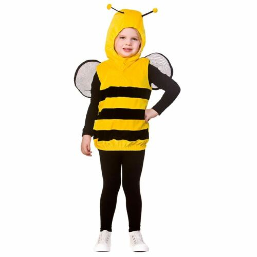 Bambino Deluxe Bumble Bee Costume Tabard Costume World Book Day Ragazzi Ragazze Bambino