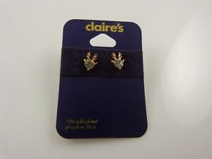18-kt-gold-plated-Reindeer-crystal-studs-earring-posts-earrings-Christmas