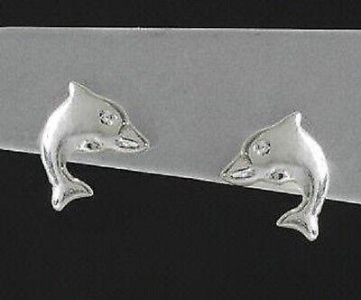 Neu! Echt 925 Silber Delfin OHRSTECKER matt od. glanz (Ki)