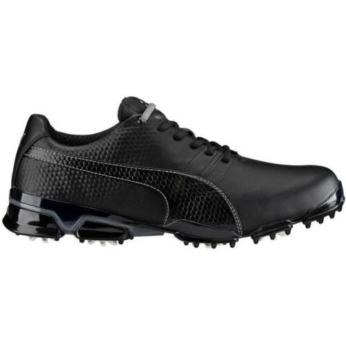 PUMA TitanTour Ignite Mens Golf Shoes 188656 Waterproof White Black Black-steel  Grey 10