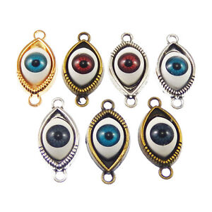 18pcs-6-Colors-Alloy-Jewelry-Making-Evil-Eye-Look-Charms-Pendants-Findings-Craft