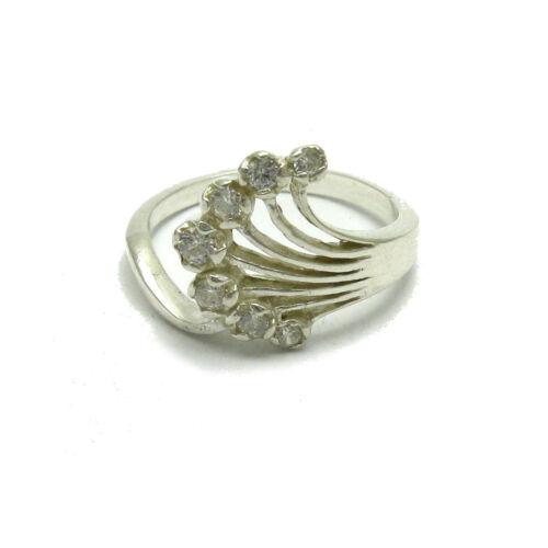 Sterling silber ring mit  Kubischen Zirkonoxid EMPRESS R001655