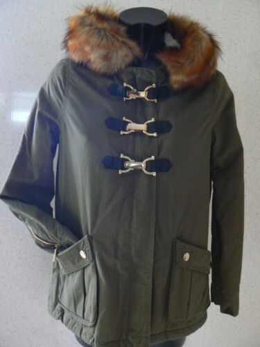 cappuccio Island Size 6 River con Hooded UK e pelliccia New Labels Felpa Parka R5nBYqzwRx