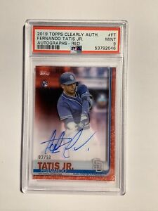 2019 Topps Clearly Fernando Tatis Jr. Rookie Auto Red Parallel /50 PSA 9 Star!!