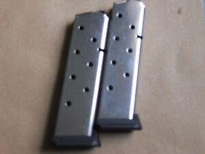 1911-type-EXTENDED-Hybrid-magazine-mag-2-pcs-8-shot-45-Flaired-base-S-S