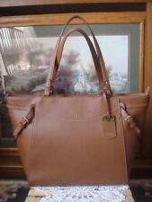 NW0T ~ RALPH LAUREN SHELDON BROWN PEBBLED LEATHER LARGE TOTE BAG ~$368