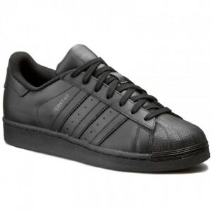ADIDAS SUPERSTAR SUEDE Black White For Men's Size 7.5 to 13 New In Box