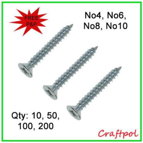 Zinc Plated N20 General Purpose Twinthread Screws Pozi Countersunk