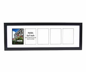 Creativepf 5 Opening Multi 5x7 Black Picture Frame W 10x32 White