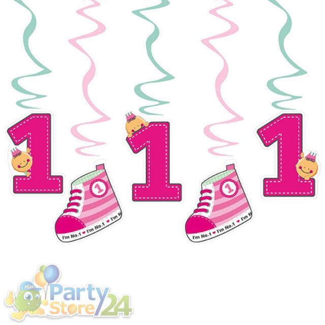 Deko Spirale 5/10/15 St. Babyparty Taufe Baby Party Geburt Geschenk Hängespirale