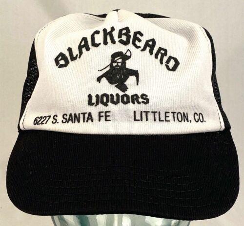 Vtg BLACKBEARD LIQUORS Trucker Hat-Littleton CO-Fl