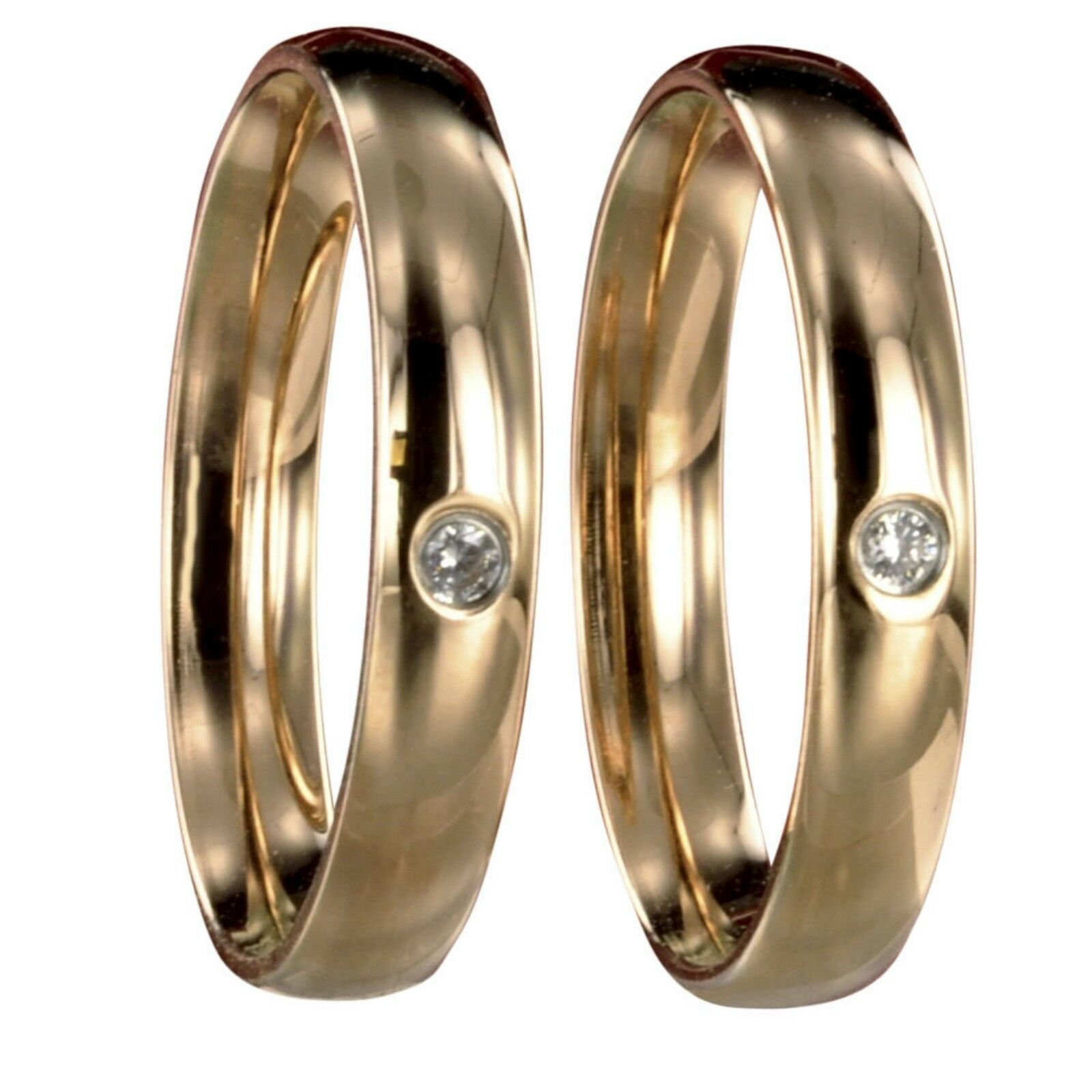 2 Edelstahl pinkgold Freundschaftsringe Verlobungsringe mit Innengravur 50032