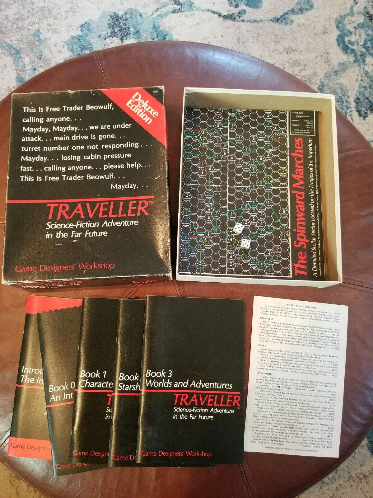Traveller Deluxe rpg rpg rpg box set GDW RARE 109960