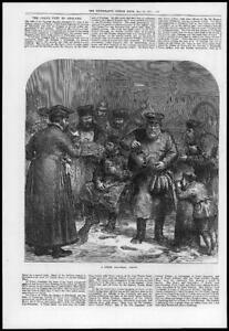 1874-Antique-Print-RUSSIA-Moscow-Street-Tea-Seller-Bread-Kettle-138