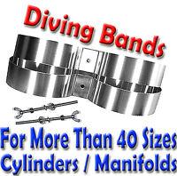 Scuba Diving Twin Cylinder Band Scuba Tank Bands Ss