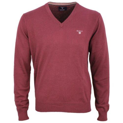 678 83102 In Bacca Cotone V Rosso A Maglia Pullover Gant Scollo Uomo PEngvCqnwA