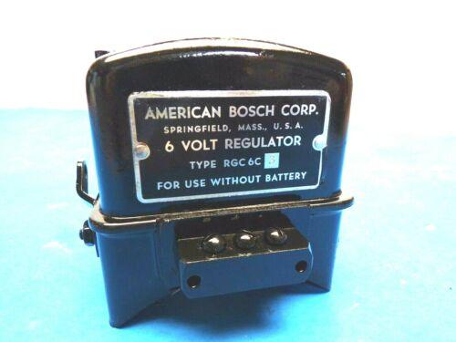 American Bosch Voltage Regulator Caterpillar 6 Volt Type RGC-6C3