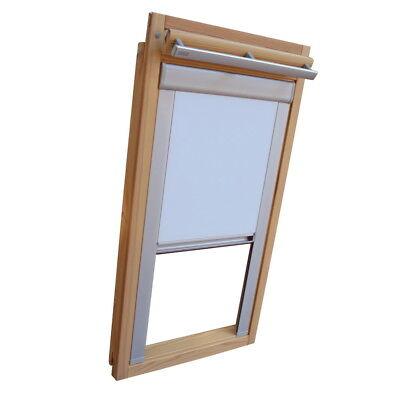 BSK weiß Sichtschutzrollo mit Schienen für Blefa Dachfenster BL