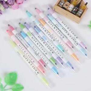 12Pcs-Marker-Pens-Mild-liner-Headed-Fluorescent-Pen-Art-Highlighter-Drawing