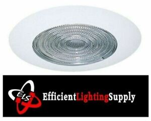 """6/"""" INCH RECESSED CAN LIGHT SHOWER TRIM CLEAR GLASS FRESNEL LENS"""