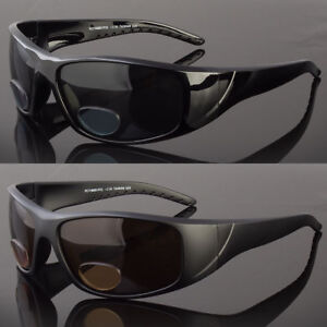 2459c1f57142 Image is loading Polarized-BIFOCAL-Wrap-Around-Sunglasses-Mens-Womens- Fishing-