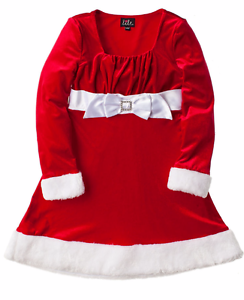 5bd9f27a2080b Girls Red and White Christmas Dress Lilt Velvet Size 10 Classy and ...