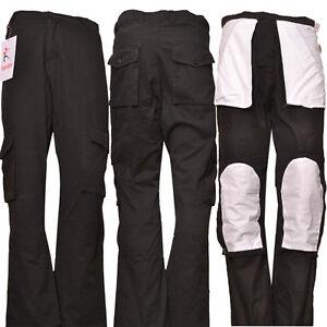 Men-039-s-Work-Cargo-Trousers-Multi-Pockets-lightweight-Work-Pant-Black-Knee-pockets