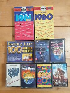 audio-music-cassette-tapes-bundle-joblot-x9-as-pictured-mct04