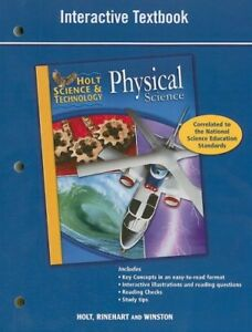 Holt Science & Technology: Interactive Textbook Physical ...