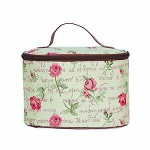 Kosmetik-Tasche-Rose-Blume-Beutel-Etui-Kulturbeutel-Nessesair-Gobelin