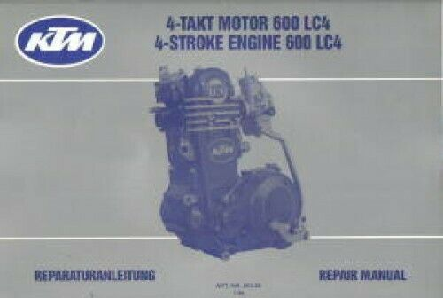 KTM 600 LC4 Motorcycle Engine Service Manual 1988 1990 Manuals ...