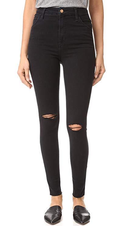 JOE'S High Rise Nero Skinny Jeans W31 L29 RRP