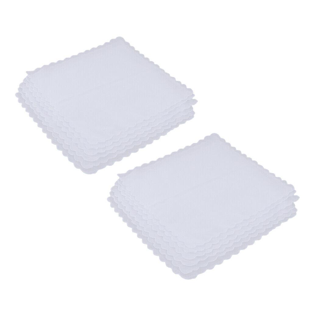 12pack Comfy 100% Cotton Hankie Wedding Handkerchiefs DIY Wavy Edge Hanky