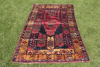 Other 1.2x2.7m Turco Vintage Oración Diseño Alfombra Tejido A Mano Anatolia Yahyali Carefully Selected Materials