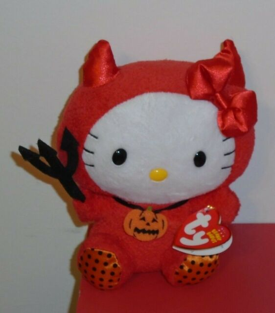 6054efdfe28 Hello Kitty Red Devil Halloween 2011 Ty Beanie Baby Cat MINT Tags ...