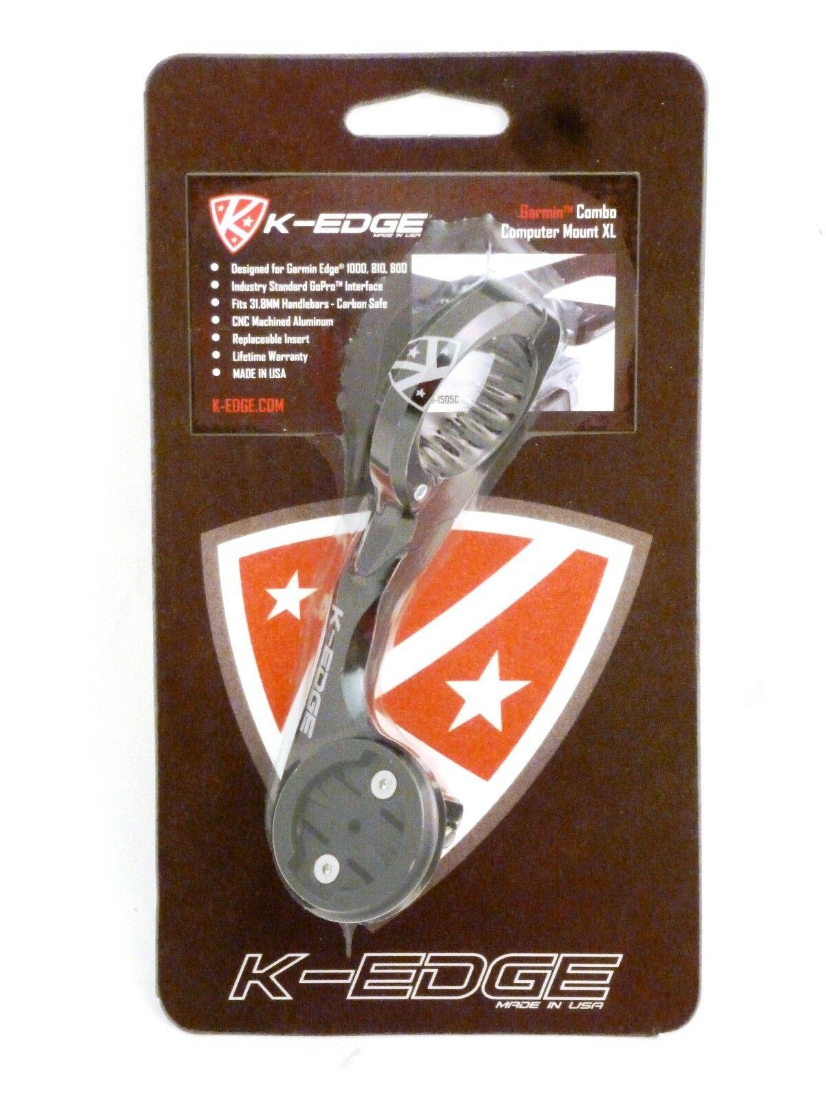 K-edge Combo Xl Garmin Go Pro Soporte Para Cámara 31.8 Negro K Edge