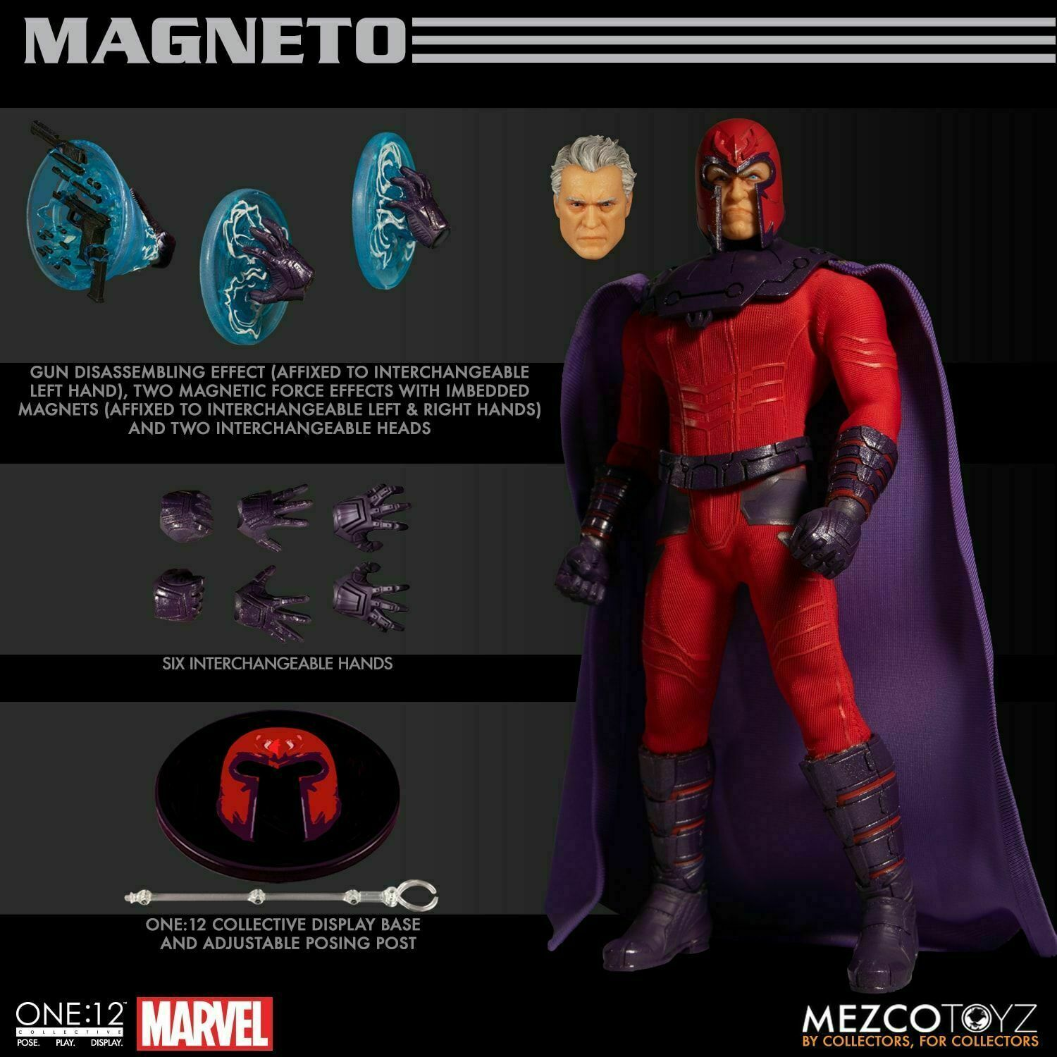 Mezco Magneto azione cifra One 12 Collective 6 Marvel Xessi IN STOCK
